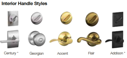 interior handle styles